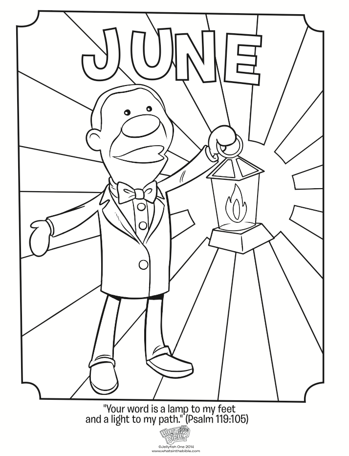 714x933 June Coloring Page