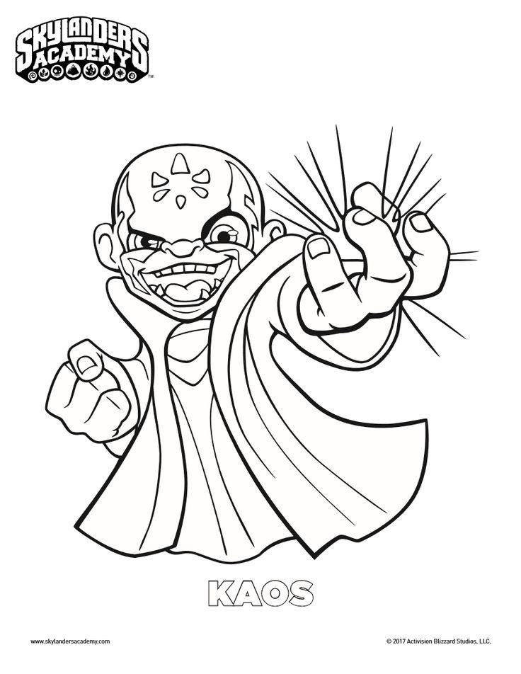 736x952 Free Skylanders Kaos Coloring Page Printable Coloring Pages