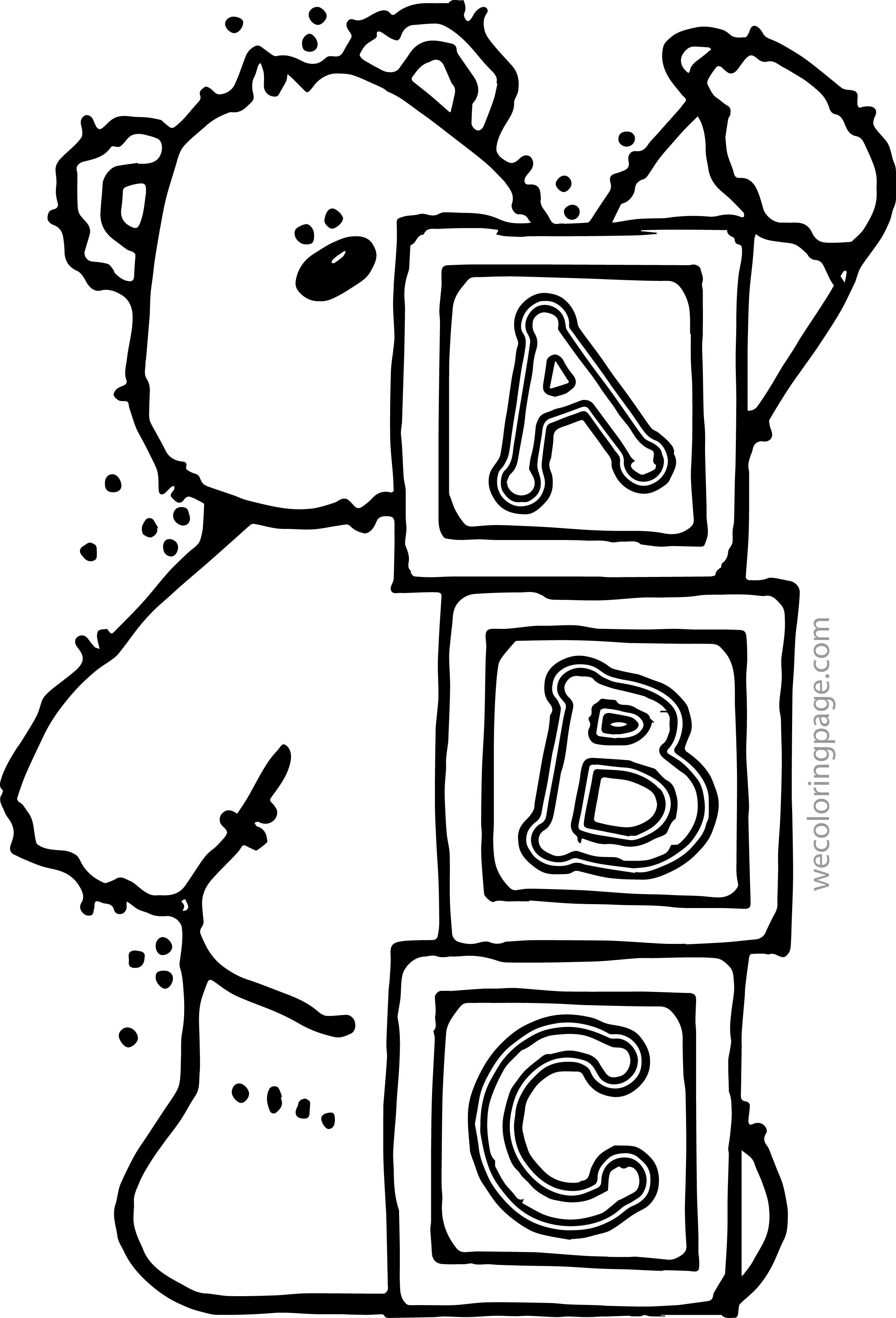 2501x3678 Alphabet Blocks Coloring Pages Color Bros