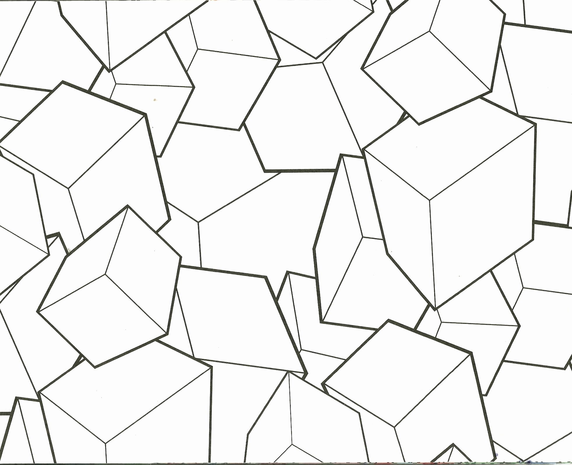 1962x1596 Cactus Coloring Page Elegant Geometric Blocks Design Coloring