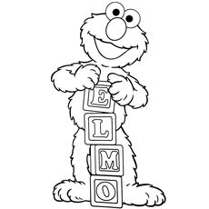 230x230 Cute Elmo Coloring Pages