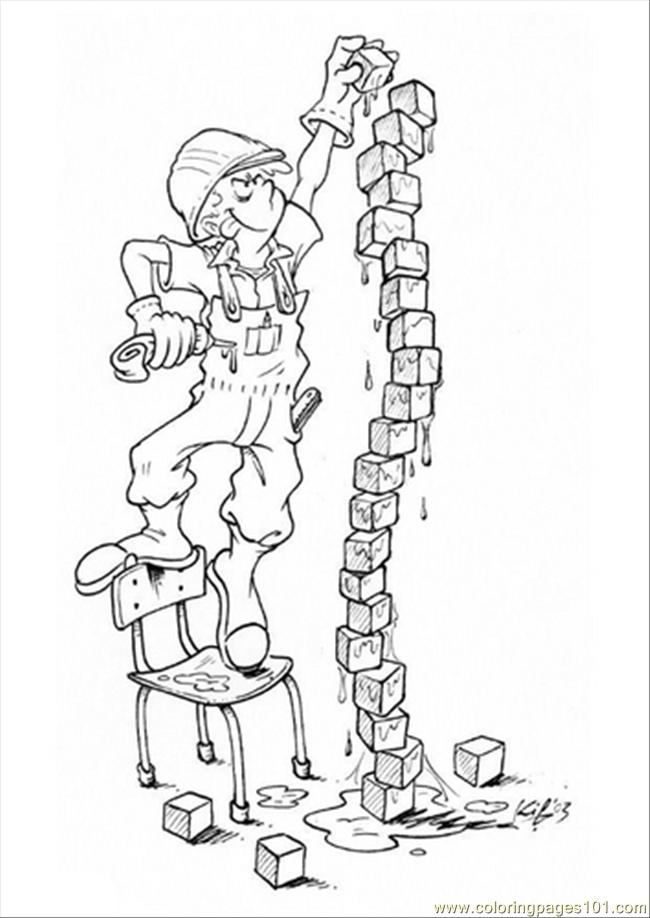 650x918 G With Building Blocks Coloring Page