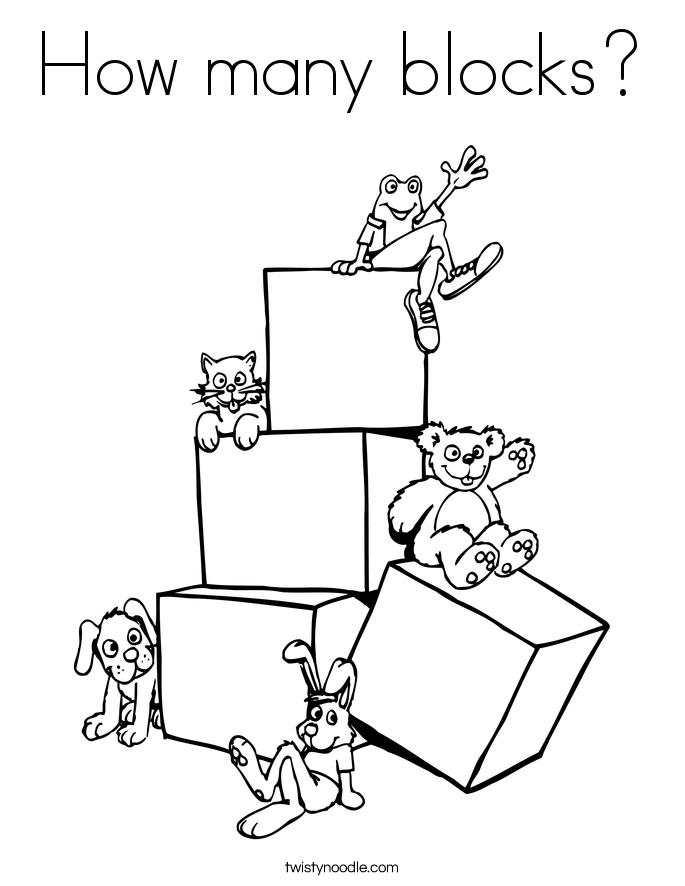 685x886 How Many Blocks Coloring Page