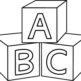 268x268 Lego A B C Blocks Coloring Page Free Printable Coloring
