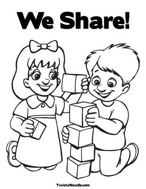 468x605 Preschool Friends Coloring Pages