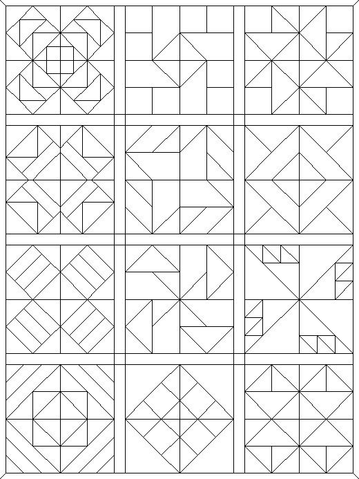520x693 Quilt Patterns Coloring Pages Quilt Pattern Coloring Pages