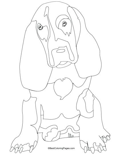 420x542 Basset Hound Coloring Pages Basset Hound Coloring Page Download