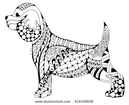 450x366 Bloodhound Coloring Pages Coloring Pages Flowers And Butterflies