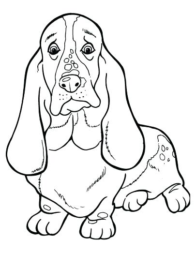 405x525 Basset Hound Coloring Pages Basset Hound Coloring Pages Free