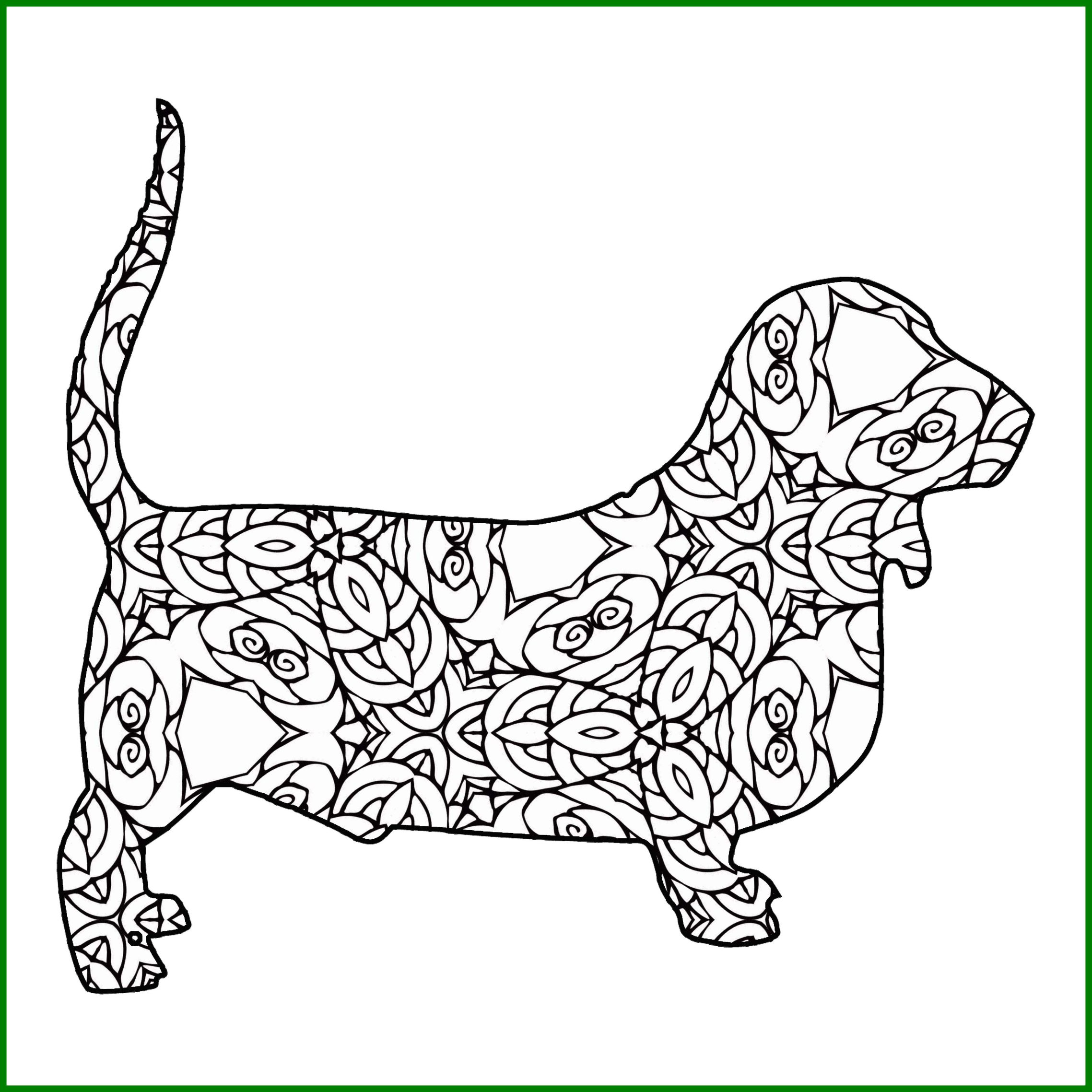 2277x2277 Stunning Best Of Coloring Pages Hound Dogs Leri Co Bloodhound