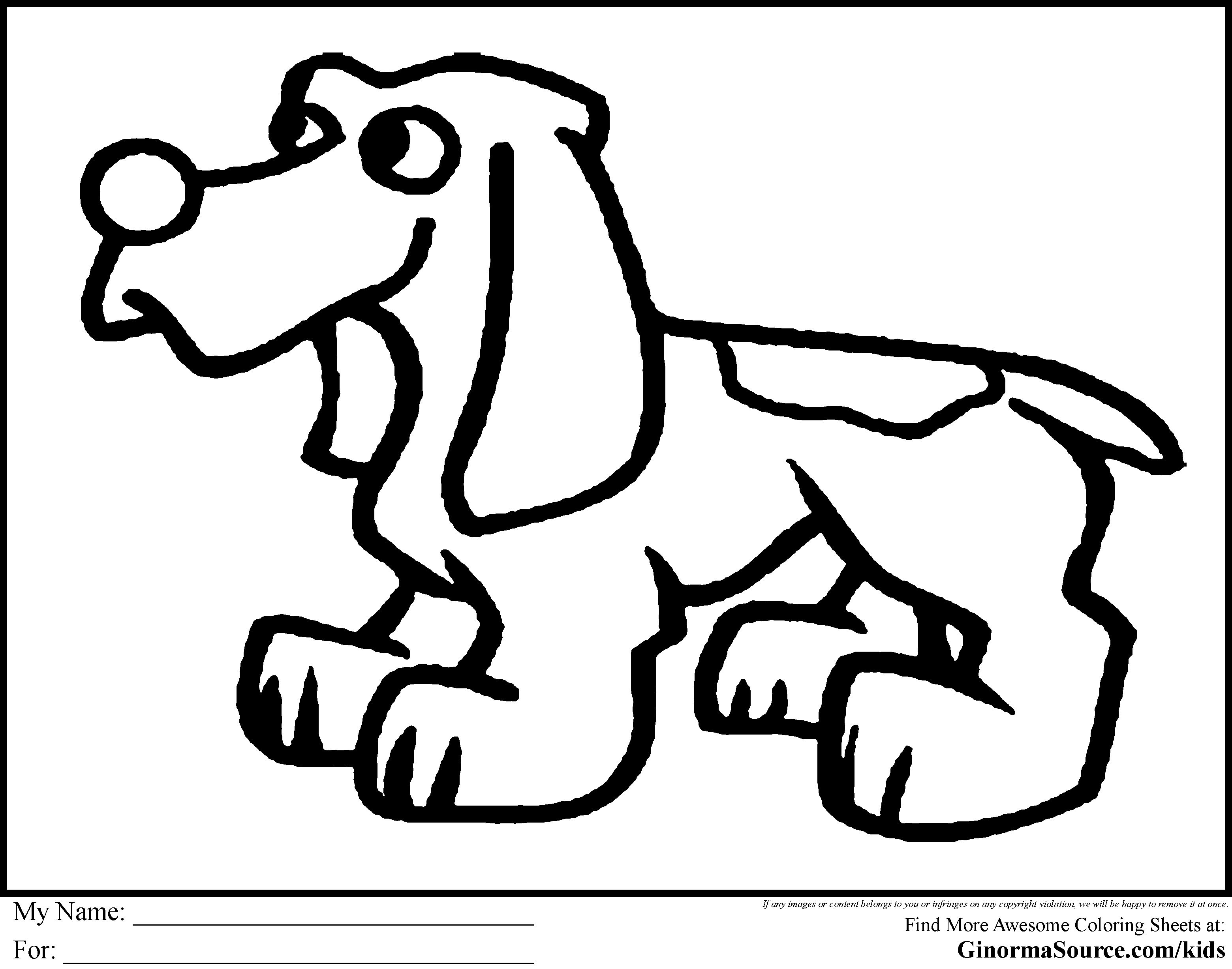 3120x2455 Bloodhound Animal Coloring Pages Cute Coloring Page Puppy