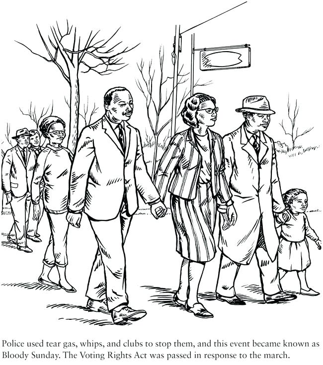 650x735 Coloring Pages Civil Rights Movement Coloring Pages