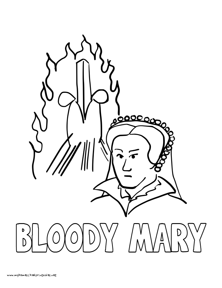 765x990 History Coloring Pages Volume Queen Mary