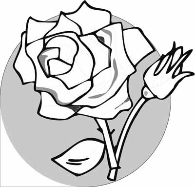 400x383 Rose Coloring Pages With Subtle Shapes And Forms, Can Be Colored