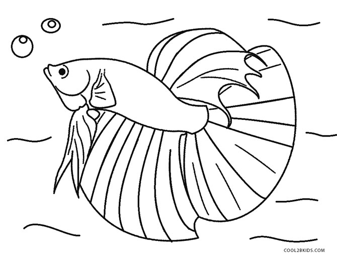 670x512 Saltwater Fish Coloring Pages