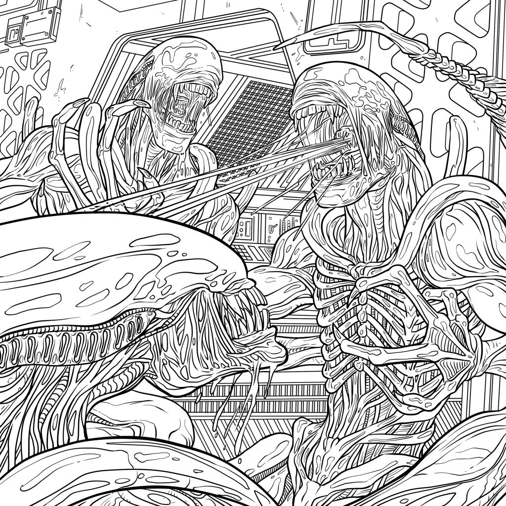1024x1024 Alien Queen Coloring Pages Copy Four Exclusive Alien Coloring Book