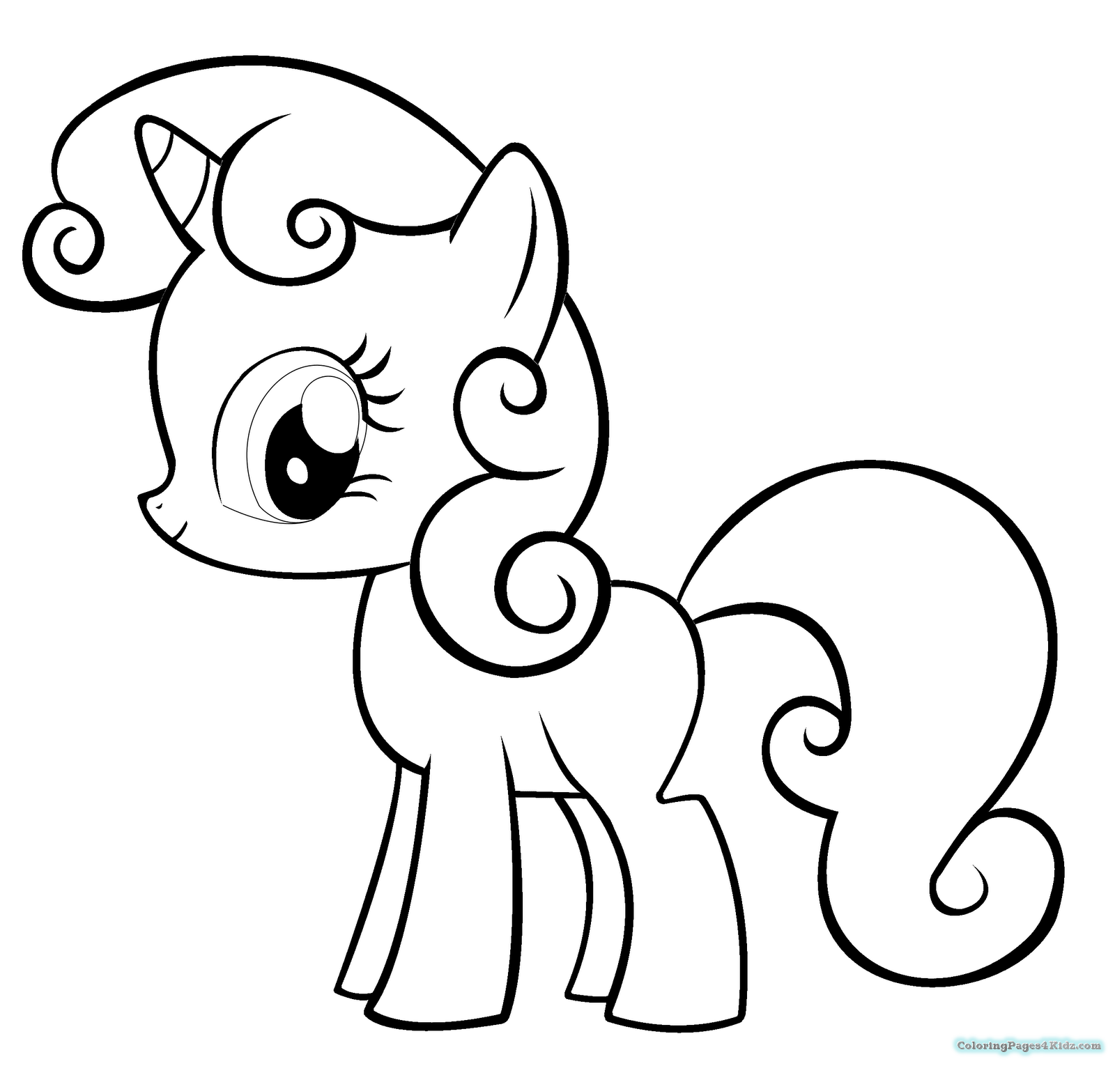 1600x1530 My Little Pony Printable Coloring Pages Apple Bloom Coloring