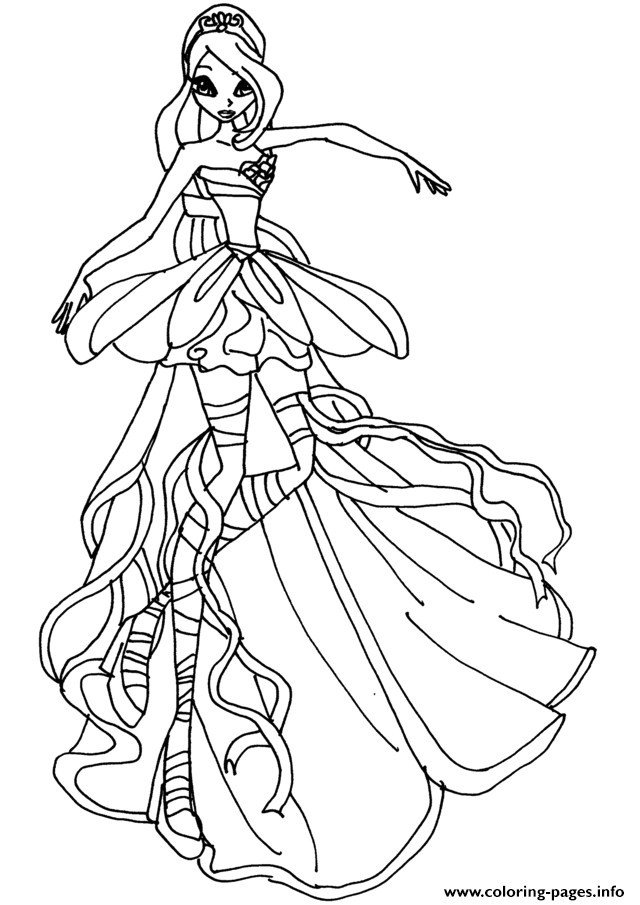 640x905 New Winx Bloom Coloring Pages Coloring Ws