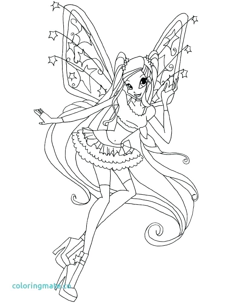 750x1000 Winx Club Bloom Coloring Pages Club Flora Coloring Pages Kids
