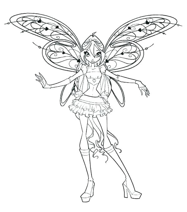 600x678 Winx Club Coloring Page Club Bloom Coloring Pages Club Coloring