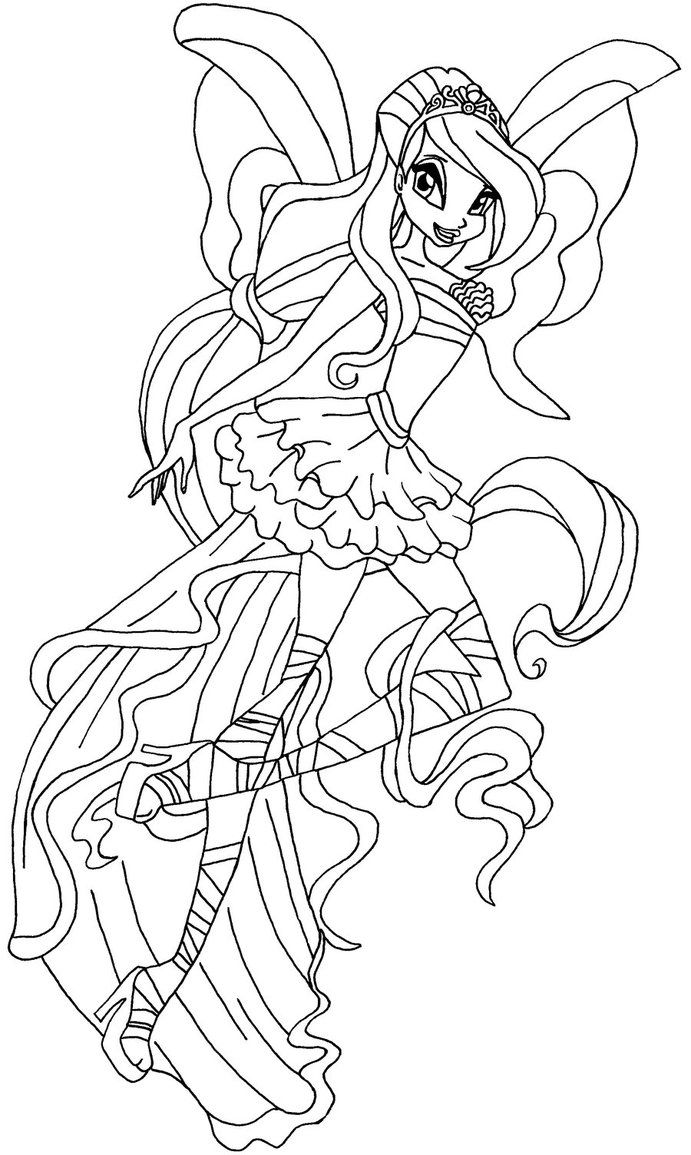 691x1155 Coloring Pages Winx