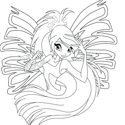 400x400 Winx Club Bloom Sirenix Coloring Pages