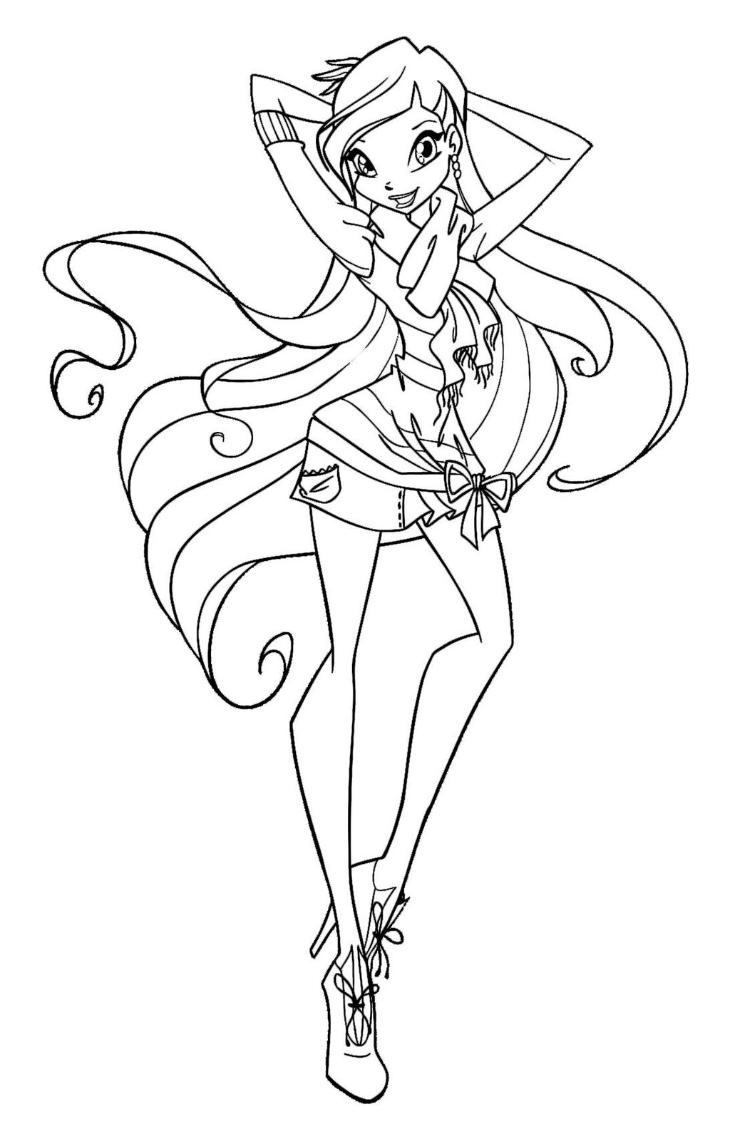 1024x1598 Coloring Pages Winx Google Search Andy New Winx