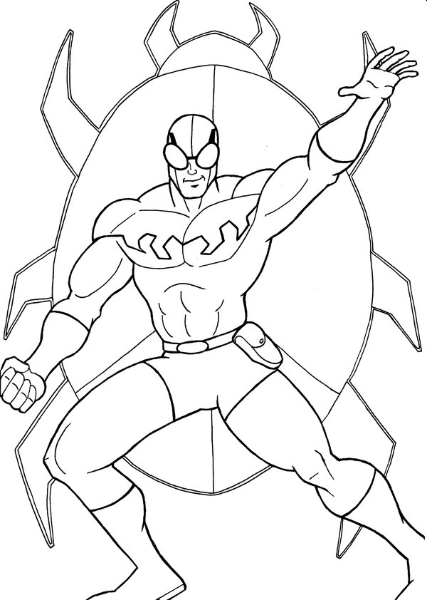 600x842 Blue Beetle Coloring Pages Blue Beetle Coloring Pages Funycoloring