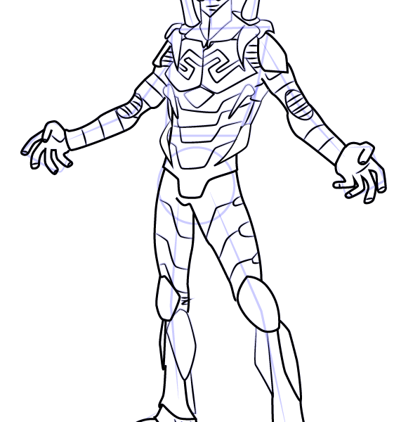 598x600 Blue Beetle Coloring Pages Blue Beetle Coloring Pages Star Wars