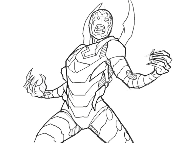 700x567 Blue Beetle Coloring Pages How Draw Blue Beetle Art Lesson Online