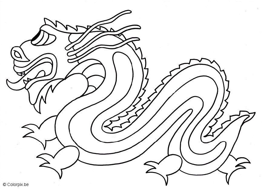 872x625 Chinese Dragon Pictures To Colour Chinese Dragon Colouring Page