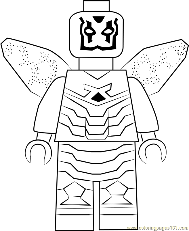 657x800 Lego Blue Beetle Coloring Page