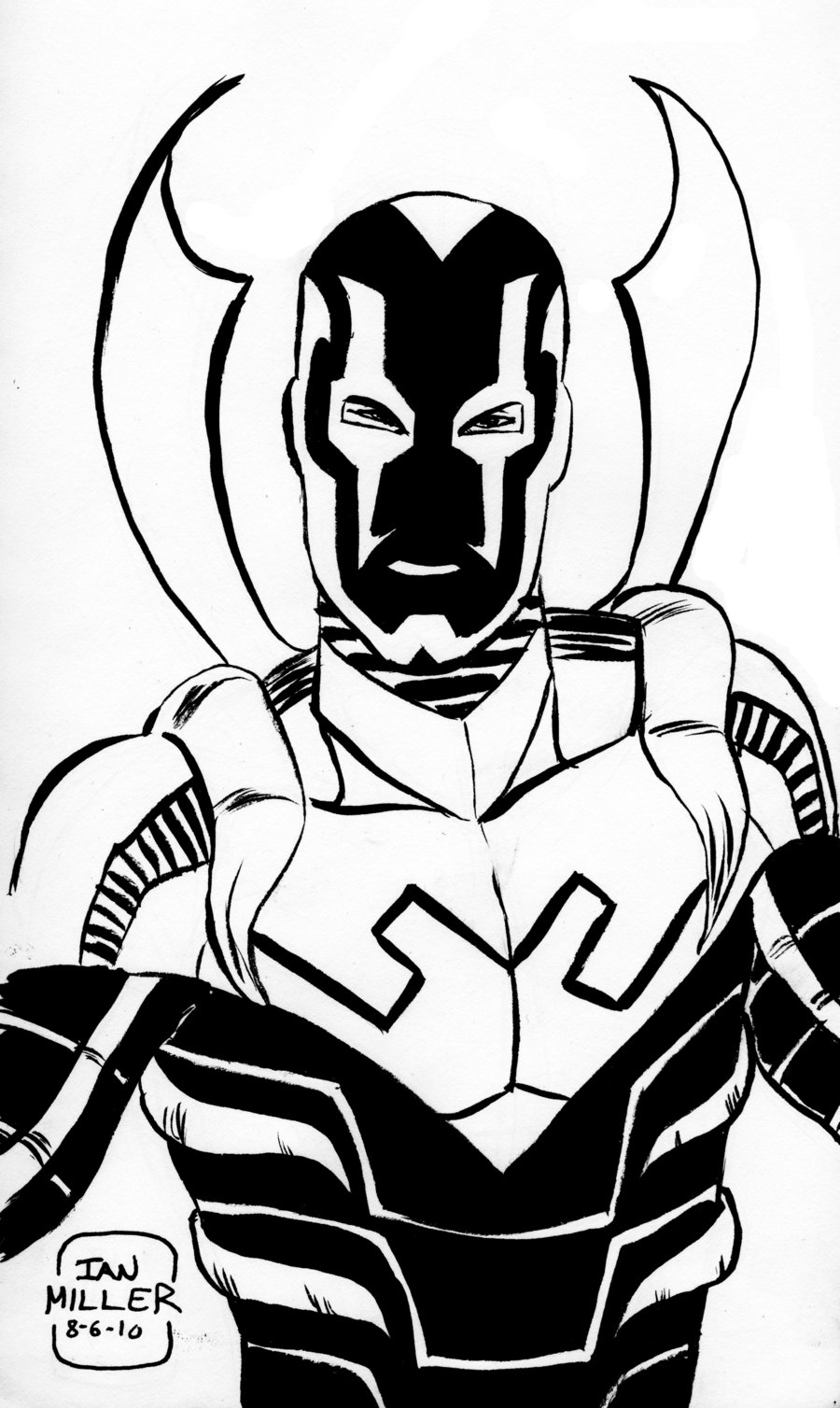 900x1508 Old Fashioned Blue Beetle Coloring Pages Illustration