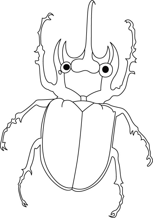 518x740 Shape Of The Blue Beetle Coloring Page