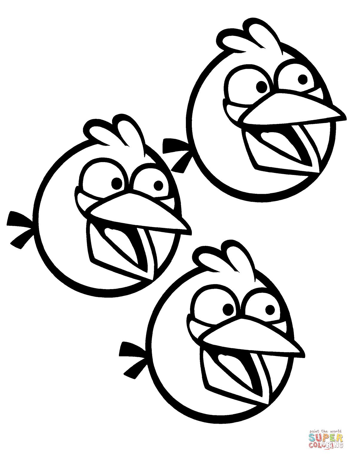 1171x1527 Angry Birds Blue Bird Coloring Pages Coloring Pages