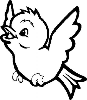 347x400 Free Printable Coloring Page Bluebird Of Happiness Bluebird