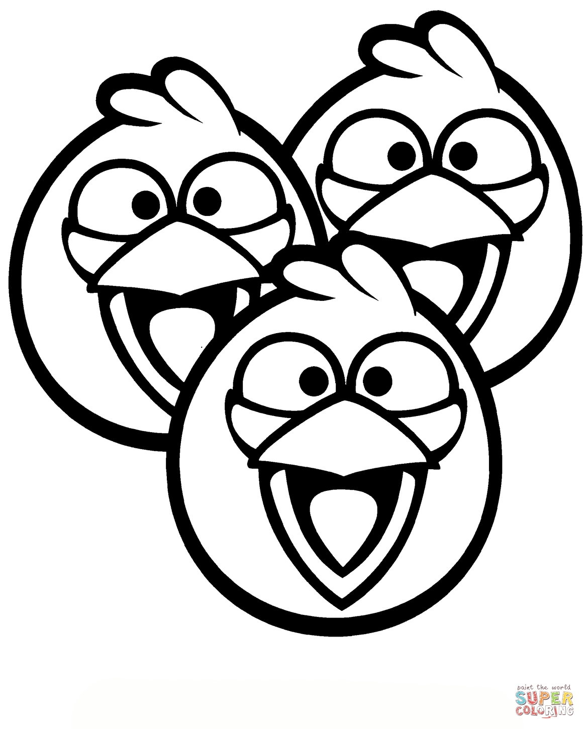 1164x1451 Angry Birds Coloring Pages Blue Bird To Print Free Coloring Sheets