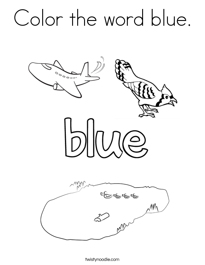 685x886 Color The Word Blue Coloring Page
