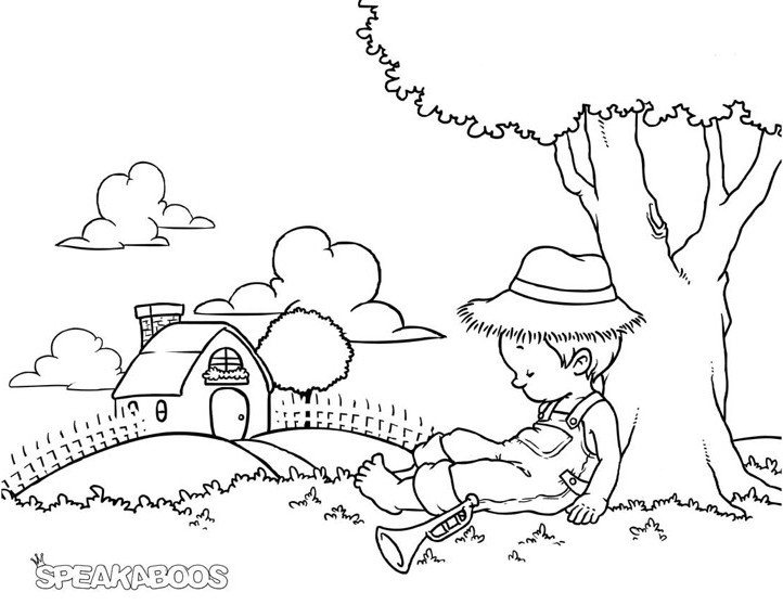 722x558 Little Boy Blue Coloring Page Best Of Little Boy Coloring Pages