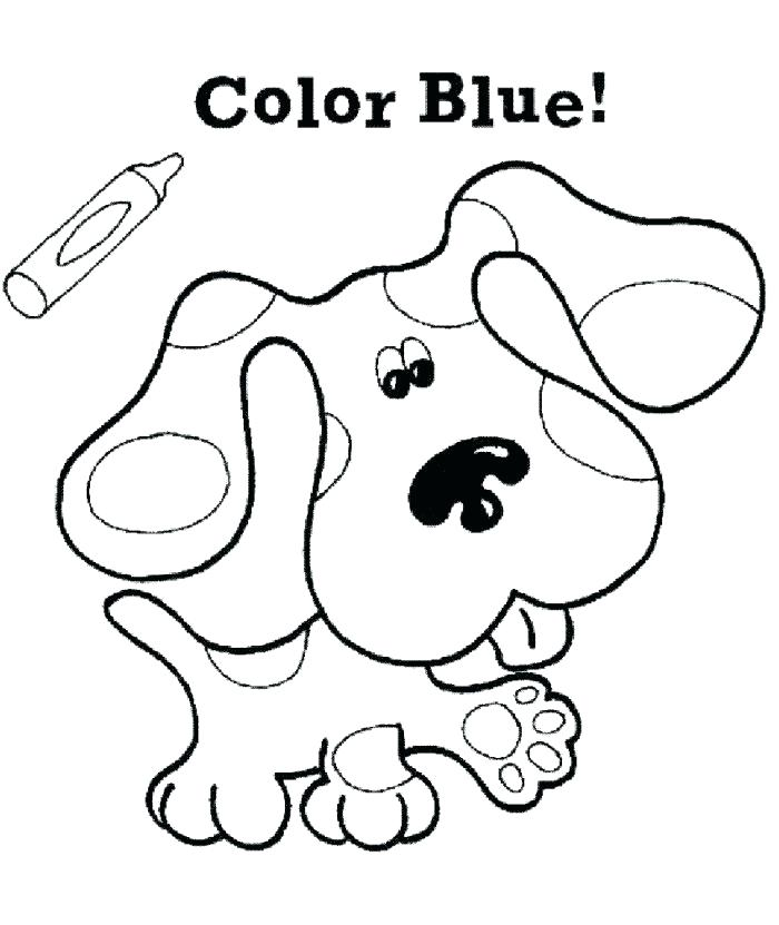700x831 Blue Coloring Page Blue Coloring Blues Clues Coloring Pages