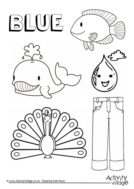 460x650 The Color Electric Blue Coloring Page