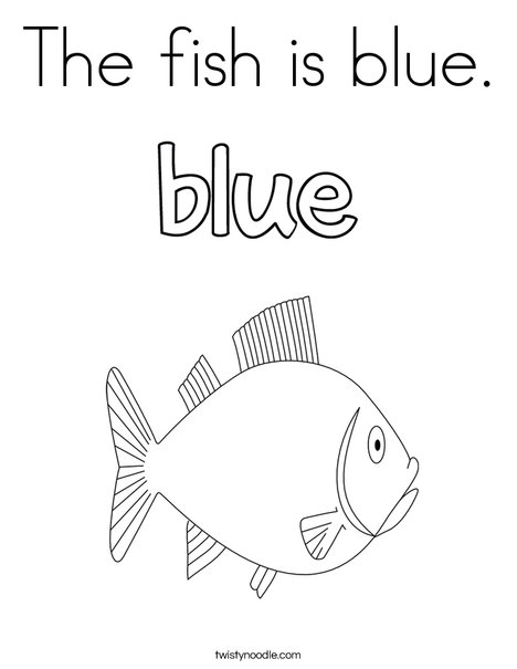 468x605 The Fish Is Blue Coloring Page