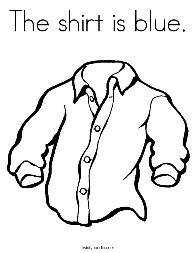 685x886 The Shirt Is Blue Coloring Page