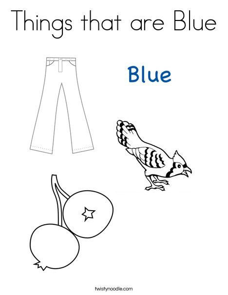 468x605 Things That Are Blue Coloring Page From Color
