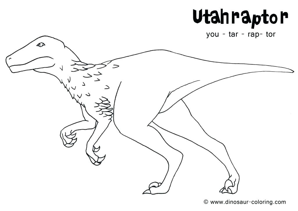 1024x725 Velociraptor Printable Coloring Pages