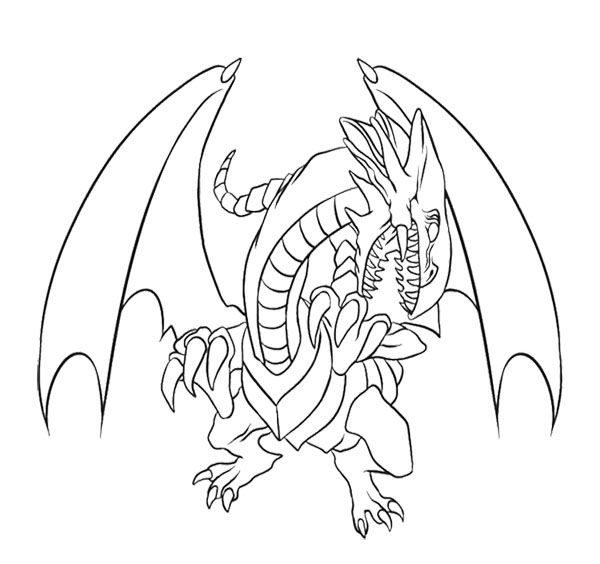 600x564 Blue Eyes White Dragon Coloring Page For Kids Kids Coloring