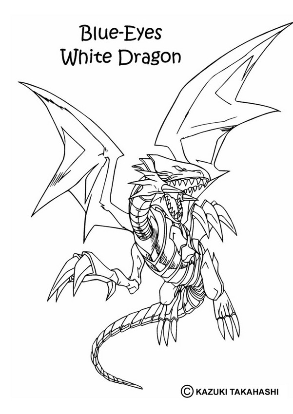 601x850 Blue Eyes White Dragon Coloring Pages