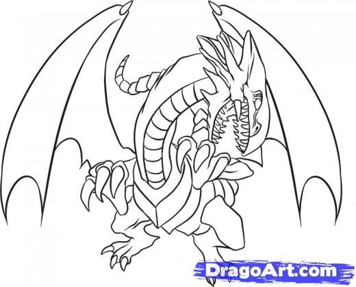 520x419 Yugioh Coloring Pages Yugioh Blue Eyes White Dragon Coloring Pages