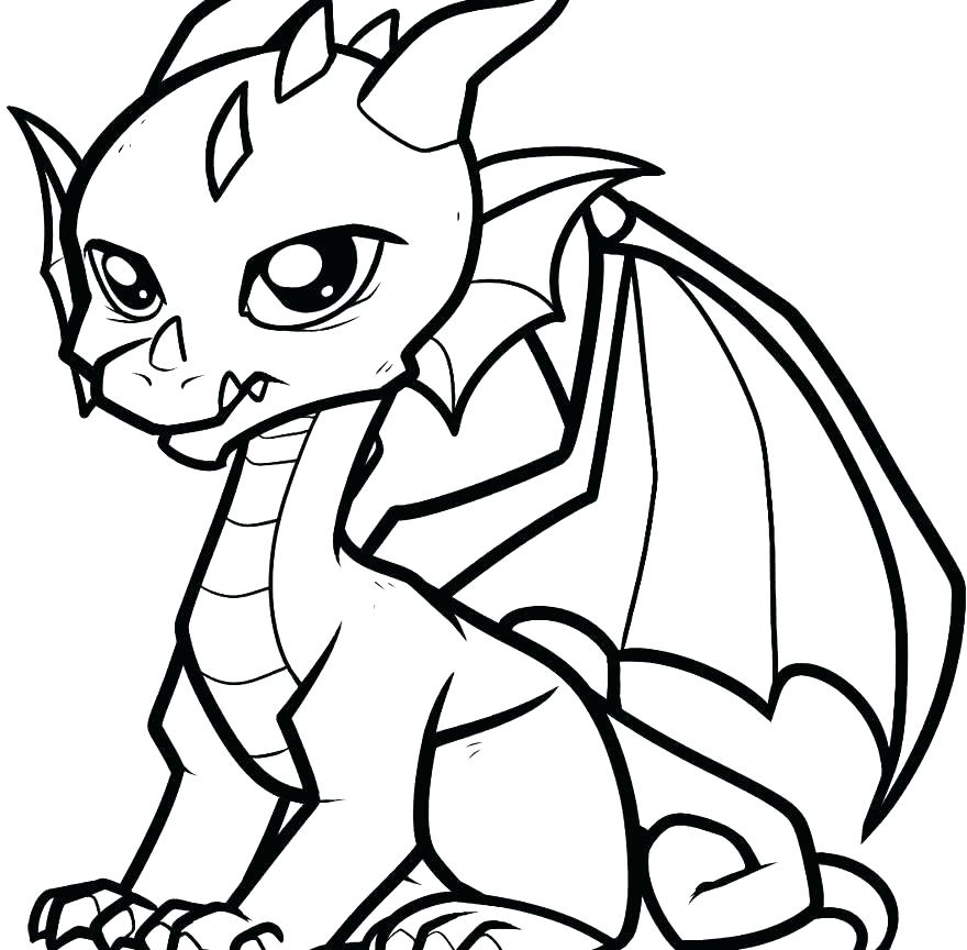 880x864 Year Of The Dragon Coloring Page Professional