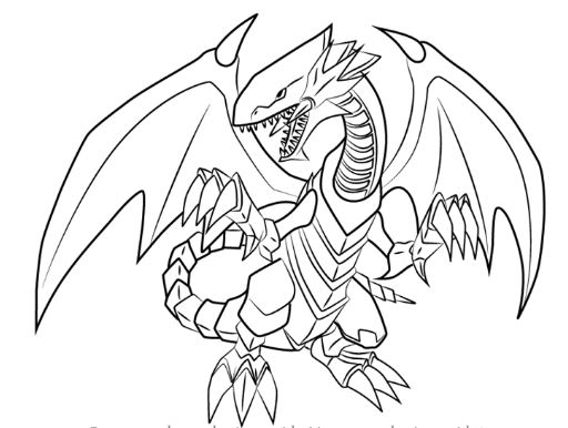512x386 Yugioh Blue Eyes White Dragon Coloring Pages Drawing Board Weekly
